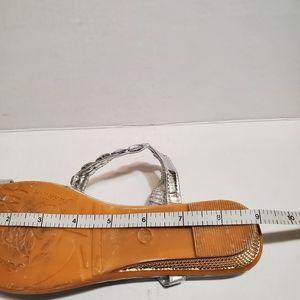 Shoes - Rhinestone embellished Wedge Heel Thong/sandal